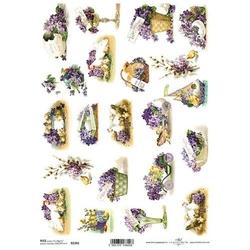 Papier ryżowy itd a4 r1341 kwiaty wielkanoc