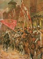 Reprodukcja zolkiewski with husars, kossak wojciech