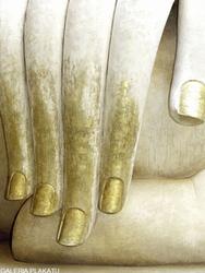Ręka Buddy - plakat premium