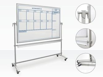 Tablica magnetyczna obrotowo-jezdna 120x90 cm z twoim nadrukiem standard
