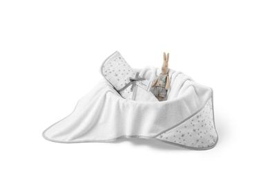 Colorstories - ręcznik bawełniany z kapturem 72x72 cm milkyway white m
