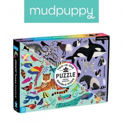 Mudpuppy puzzle dwustronne królestwo zwierząt 100 elementów 6+
