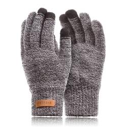 Męskie rękawiczki zimowe brodrene r1 jasnoszara mulina