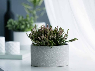 Osłonka na doniczkę dekoracyjna porcelanowa altom design dekoracja granit 10,5 cm