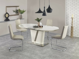 Stół rozkładany iberis 160-200x90cm kremowy