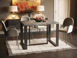 Nowoczesny rozkładany stół borys max na metalowych nogach  130-250 cm