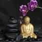Naklejka samoprzylepna budda i orchidea