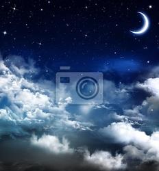 Obraz piękny, tło, nocne niebo