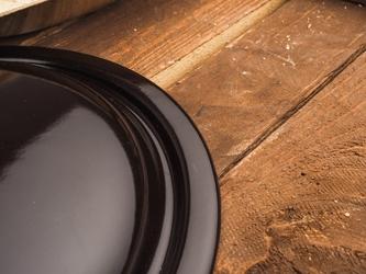 Pokrywka emaliowana 18 cm brązowa