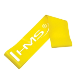 Guma do ćwiczeń gu04 żółta 0,4 x 50 x 500mm - hms