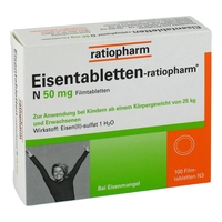 Eisentabletten ratiopharm n tabletki powlekane 50 mg