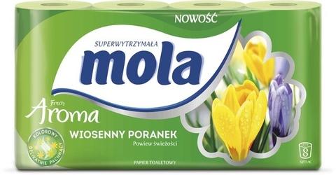 Mola fresh aroma, wiosenny poranek, papier toaletowy, 2 warstwy, 8 rolek