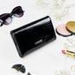 Skórzany portfel damski czarny lorenti - czarny