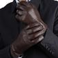 Rękawiczki skórzane męskie ocieplane miś rkw4-l rozm.l