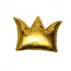 Poduszka korona - złota