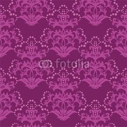 Obraz na płótnie canvas czteroczęściowy tetraptyk bezszwowe fioletowy tapeta kwiatowy fuksja