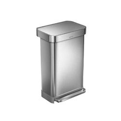 Simplehuman - kosz pedałowy liner pocket 45l - stal fpp - stalowy