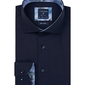 Granatowa koszula profuomo z wstawkami regular fit 37