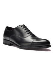 Eleganckie czarne skórzane buty męskie oksfordy 9,5