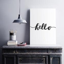 Hello - minimalistyczny obraz na płótnie , wymiary - 40cm x 50cm