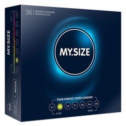 Dopasowane prezerwatywy - my size natural latex condom 49mm 36szt