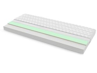 Materac piankowy salerno max plus 195x200 cm średnio twardy visco memory
