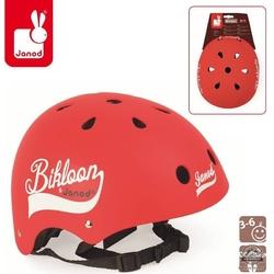 Czerwony kask rowerowy