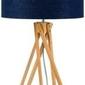 Goodmojo :: lampa stołowa kilimanjaro 5-nożna 34cm abażur 32x20cm, lniany blue denim