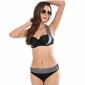 Bikini strój kąpielowy push up szary