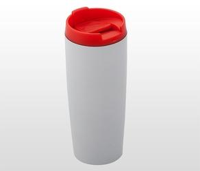 Kubek termiczny 390 ml lady plus biało-czerwony