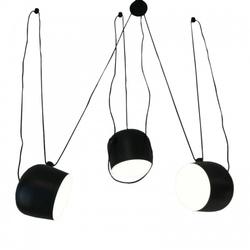 Nowoczesna lampa wisząca czarna pająk klosz zwis
