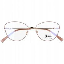 Okulary kocie oczy z filtrem blue light do komputera zerówki 2542-3