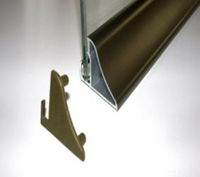 Profil do półek szklanych podświetlanych taśmą led m6sz - 500 mm