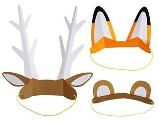 Meri meri czapeczki urodzinowe zwierzątka las