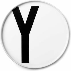 Talerz porcelanowy AJ litera Y