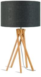 Goodmojo lampa stołowa kilimanjaro 5-nożna 34cm abażur 32x20cm, lniany ciemnoszary kilimanjart3220dg