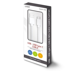 Elmak kabel usb - usb typ c quick charge, 5a, 1m savio cl-126
