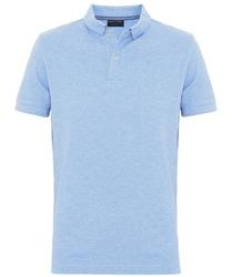 Męska koszulka polo profuomo w kolorze błękitnego melanżu l