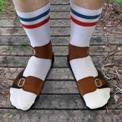 Skarpety z sandałami