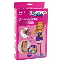 Zestaw do stylizacji z lalką i masą plastyczną apli kids - blondynka