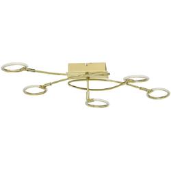 Mosiężna lampa sufitowa pięć okręgów LED DeMarkt Techno 704012305