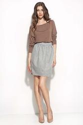 Szara mini spódnica w stylu casual