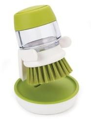 Jj - szczotka do mycia naczyń z pompką, zielona - zielony || biały