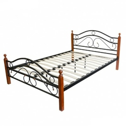 Łóżko metalowe podwójne 140x200 cm, stelaż