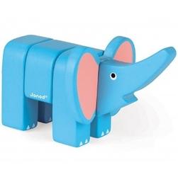 Słoń drewniany do złożenia
