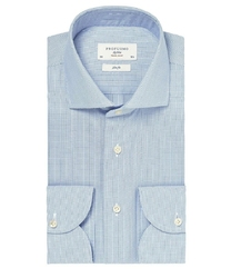 Błękitna koszula męska taliowana, slim fit travel shirt wrinkle free 37