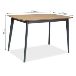 Stół do jadalni virto 120x75 cm dąb