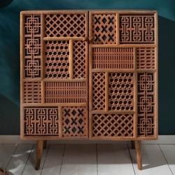 Drewniana komoda marrakesch  100x45x120 cm