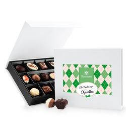 Prezent na dzień dziadka chocolate box white medium