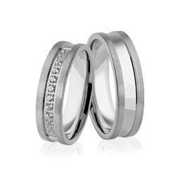 Obrączki srebrne z kamieniami - wzór ag-317